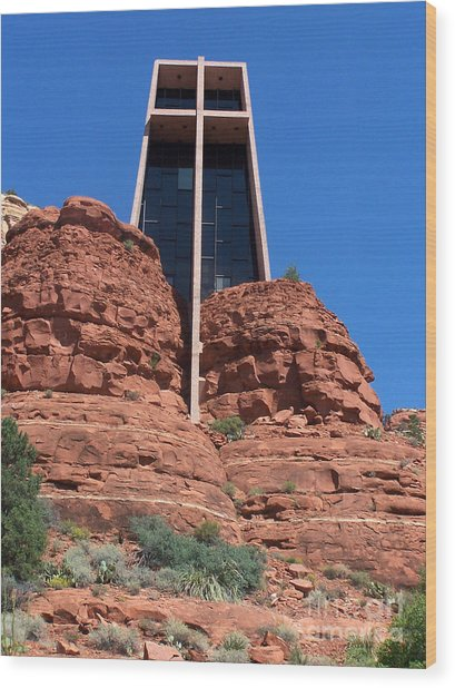 Sedona Chapel 5 Wood Print