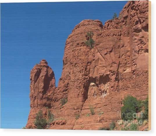 Sedona Chapel Rocks Wood Print