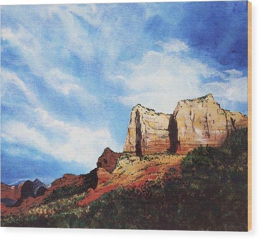 Sedona Mountains Wood Print