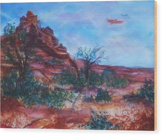 Sedona Red Rocks - Impression Of Bell Rock Wood Print