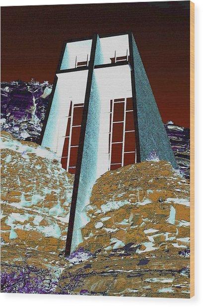 Sedona Rock Church Wood Print