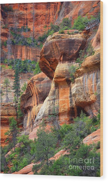 Sedona Stripes Wood Print