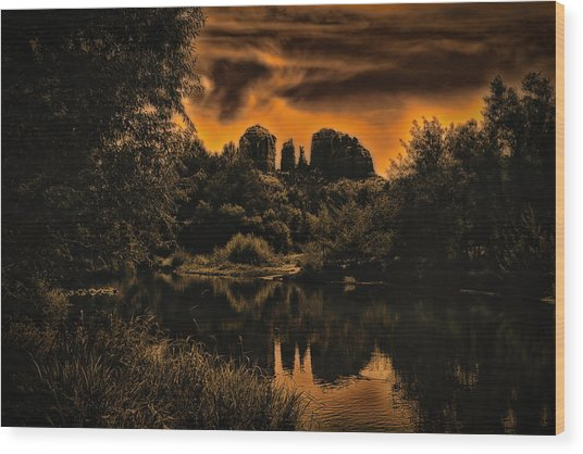Sedona Sundown ... Wood Print