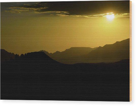 Sedona Sunset Wood Print by Christian Capucci