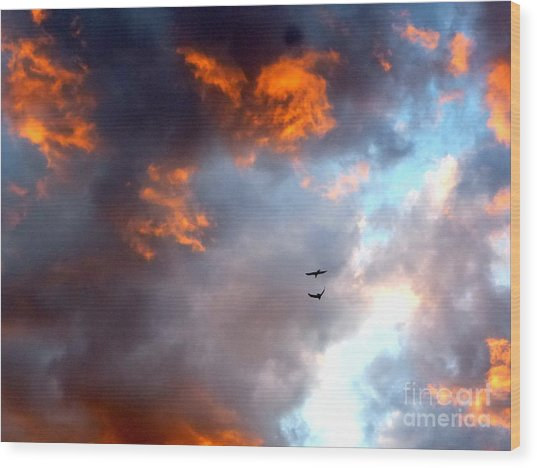 Sedona Sunset Ravens Wood Print