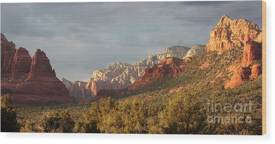 Sedona Sunshine Panorama Wood Print