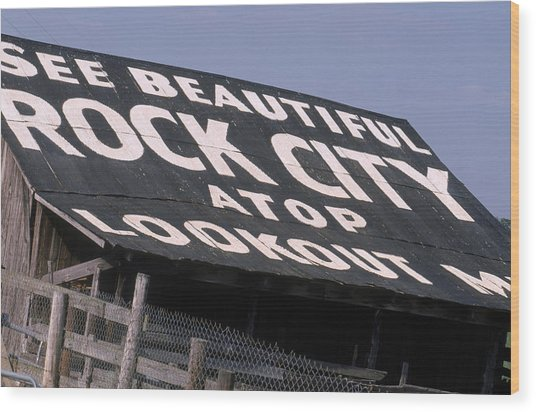 See Rock City Wood Print