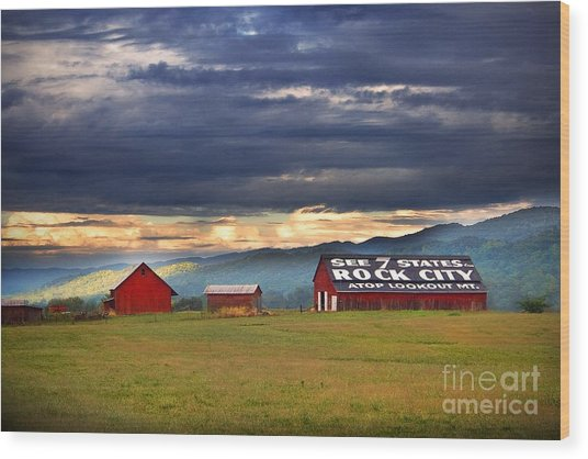 Wood Print featuring the photograph See Rock City by T Lowry Wilson