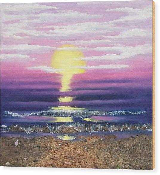 See Through The Sun Is Set Wood Print
