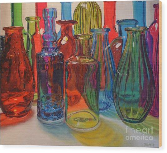 Seeing Glass Wood Print