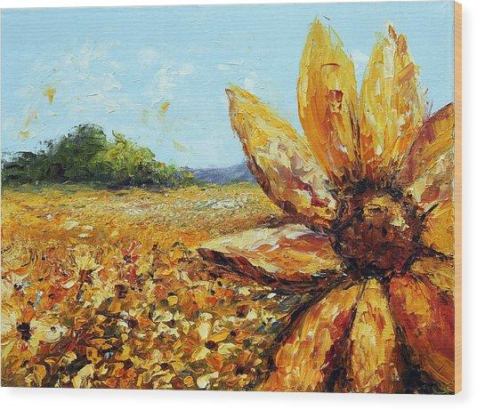 Seeing The Sun Wood Print