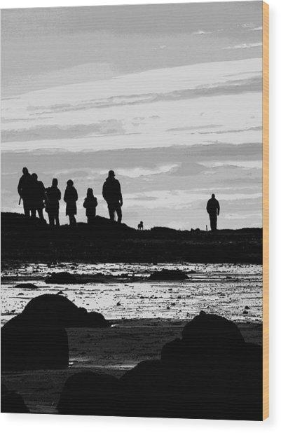 Seeker Silhouette Wood Print