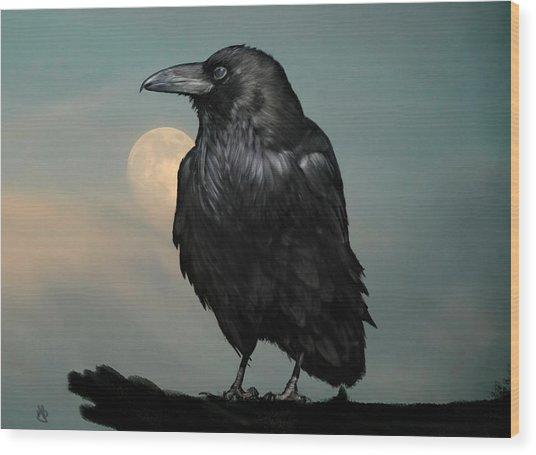 Seeking Poe Wood Print by Hazel Billingsley
