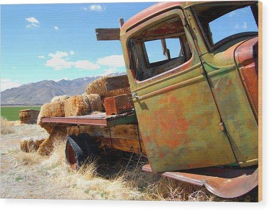 Seen Better Days Truck Wood Print