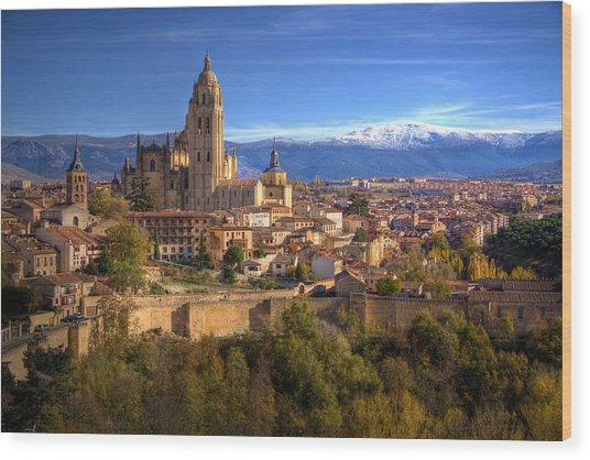 Segovia From The Alcazar Wood Print