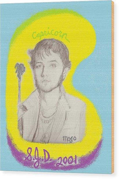 Self Portrait From 2001 Wood Print by Joe Dillon