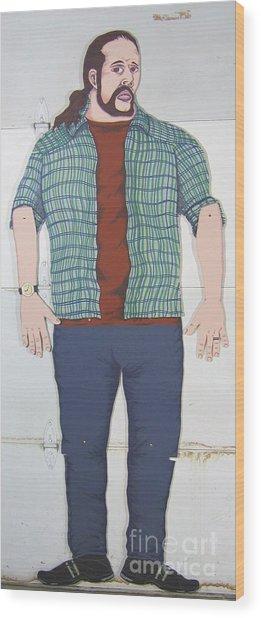 Self Portrait In Full Scale Wood Print