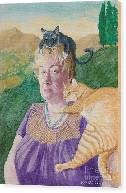 Self Portrait In The Spirit Of Frida Kahlo Wood Print