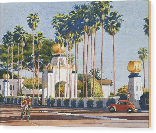 Self Realization Fellowship Encinitas Wood Print