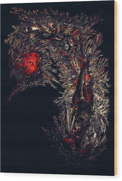 Self Signatures Until The Final Darkening Wood Print by R Johnson