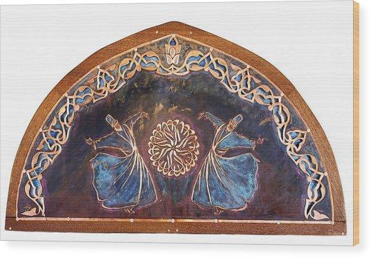 Wood Print featuring the mixed media Sema Transom by Shahna Lax