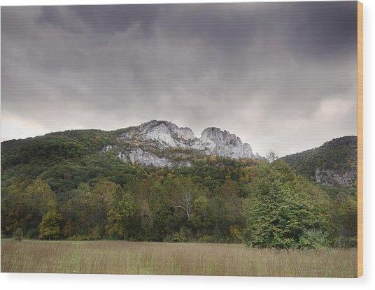 Seneca Rocks Wood Print
