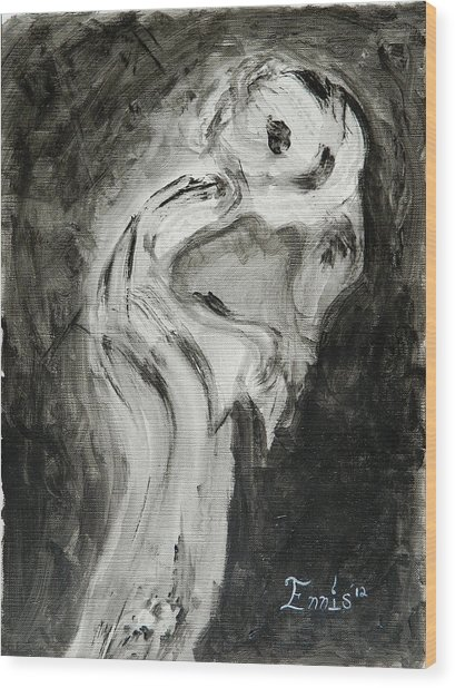 Sentimental Creeper Wood Print