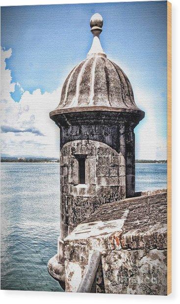 Sentry Box In El Morro Hdr Wood Print