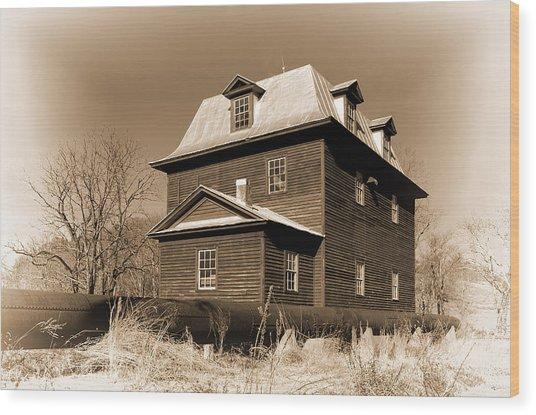 Sepia Big Otter Mill - Va. Wood Print