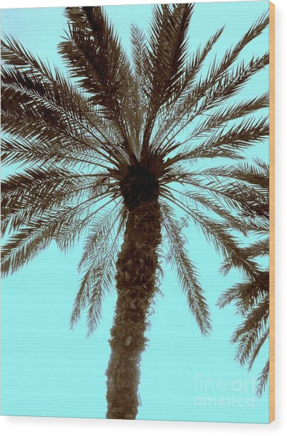 Sepia Palm Wood Print