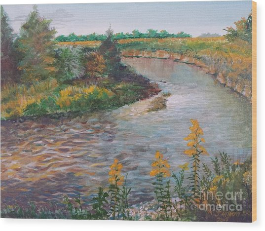 September At Creekside Wood Print
