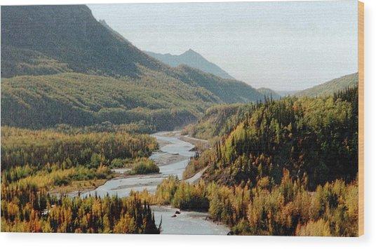 September Morning In Alaska Wood Print