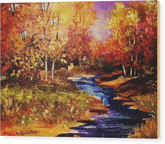 The Brilliance Of Autumn Wood Print
