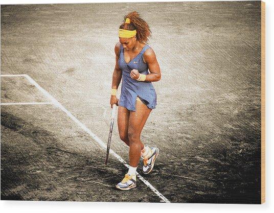 Serena Williams Count It Wood Print