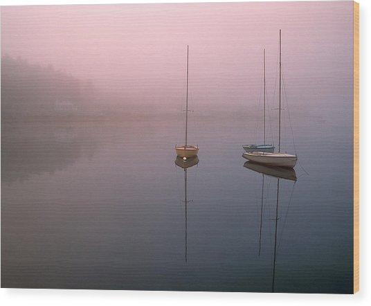 Serene Morning Wood Print