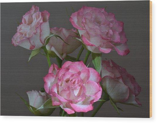 Serene Roses. Wood Print by Terence Davis
