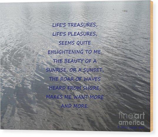 Serene Water Wood Print