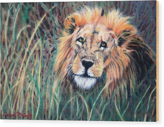 Serengeti Ruler Wood Print