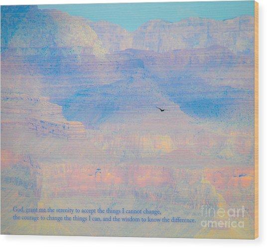 Serenity At The South Rim Wood Print