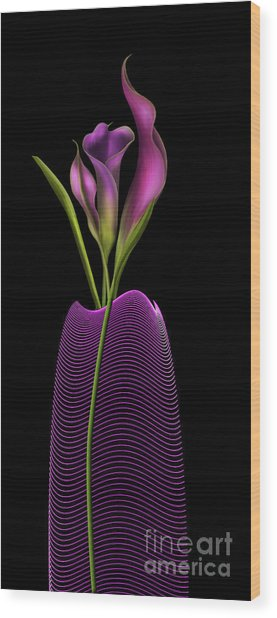 Serenity In Purple Wood Print