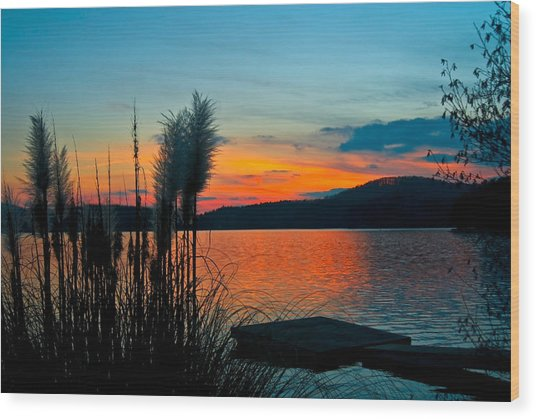Serenity Orange Wood Print
