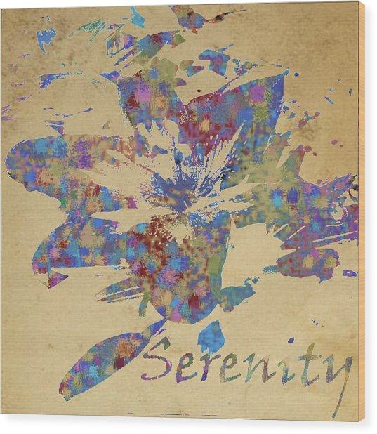 Serenity Wood Print by Soumya Bouchachi