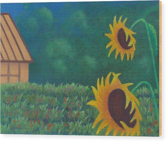 Sergi's Sunflowers Wood Print