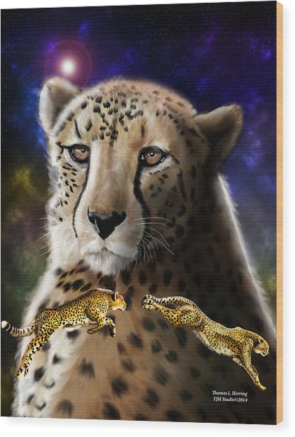 First In The Big Cat Series - Cheetah Wood Print