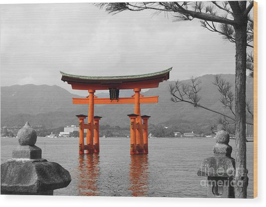 Seto Shrine Wood Print