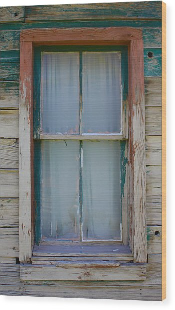 Settler's Window Wood Print