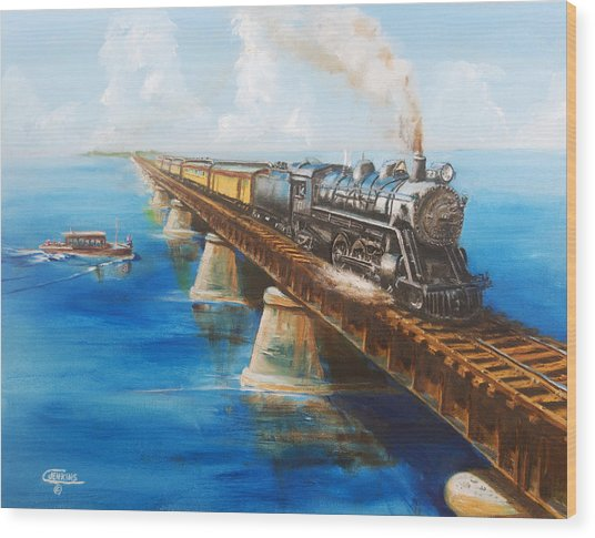 Seven Mile Bridge Wood Print