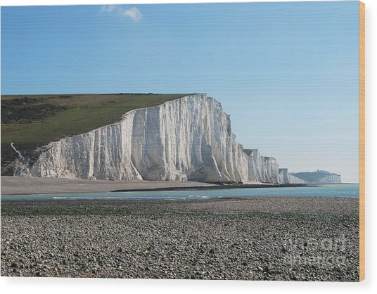 Seven Sisters Chalk Cliffs Wood Print