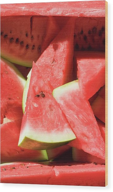 Several Pieces Of Watermelon Wood Print