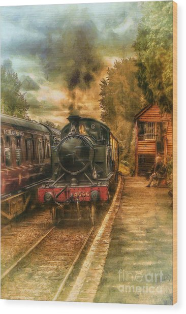 Severn Valley Railway Wood Print by J A Evans